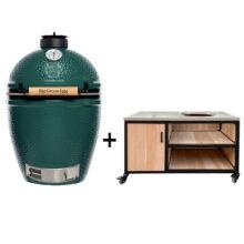 Big-Green-Egg-Large-met-tafelkast-oak-steel-storage