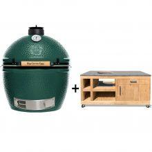Big-Green-Egg-Extra-Large-met-tafel-eikenhout-Deluxe-II-beton-look
