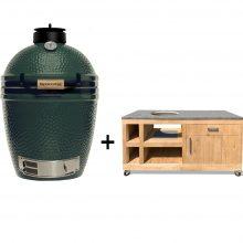 Big-Green-Egg-Medium-met-eikenhouten-tafel-deluxe-II-beton-look