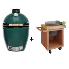 Big-Green-Egg-Large-met-OFYR-Kamado-Table-65-PRO-Cortenstaal-Teakhout.