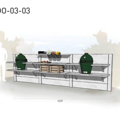Lichtgrijs: €6.670 Antraciet: €7.455. De prijs is inclusief transport, installatie en BTW. Exclusief BBQ en accessoires.
