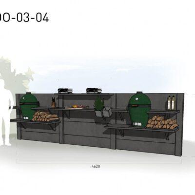 Lichtgrijs: €6.075 Antraciet: €6.770. De prijs is inclusief transport, installatie en BTW. Exclusief BBQ en accessoires.