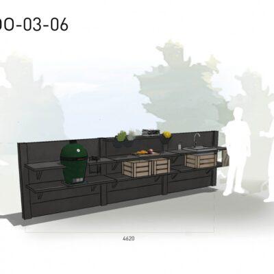 Lichtgrijs: €7.395 Antraciet: €8.170. De prijs is inclusief transport, installatie en BTW. Exclusief BBQ en accessoires.