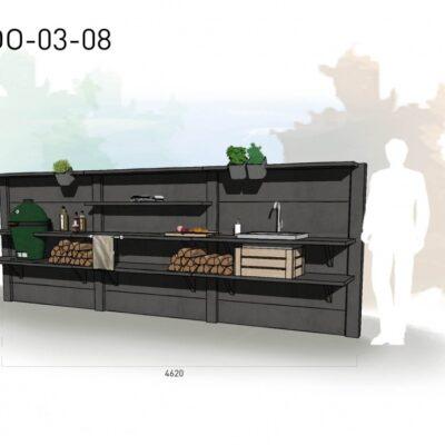Lichtgrijs: €8.965 Antraciet: €9.975. De prijs is inclusief transport, installatie en BTW. Exclusief BBQ en accessoires.
