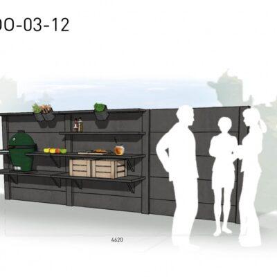 Lichtgrijs: €6.545 Antraciet: €7.315. De prijs is inclusief transport, installatie en BTW. Exclusief BBQ en accessoires.