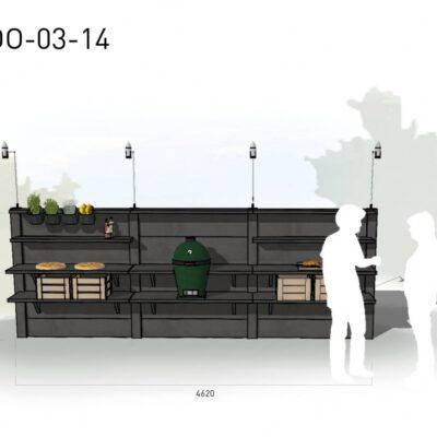 Lichtgrijs: €8.630 Antraciet: €9.705. De prijs is inclusief transport, installatie en BTW. Exclusief BBQ en accessoires.