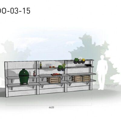 Lichtgrijs: €7.735 Antraciet: €8.680. De prijs is inclusief transport, installatie en BTW. Exclusief BBQ en accessoires.