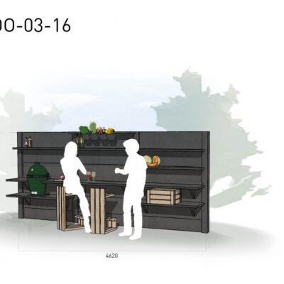 Lichtgrijs: €8.256 Antraciet: €9.280. De prijs is inclusief transport, installatie en BTW. Exclusief BBQ en accessoires.