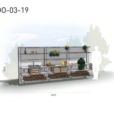 Lichtgrijs: €12.590 Antraciet: €14.145. De prijs is inclusief transport, installatie en BTW. Exclusief BBQ en accessoires.