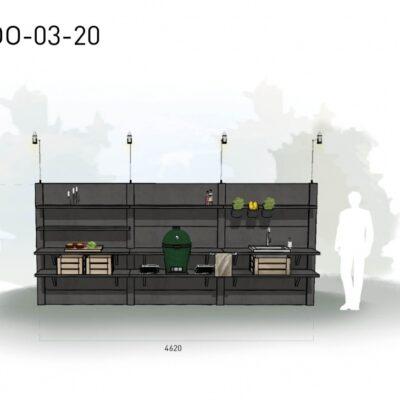 Lichtgrijs: €9.190 Antraciet: €10.235. De prijs is inclusief transport, installatie en BTW. Exclusief BBQ en accessoires.