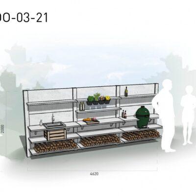 Lichtgrijs: €11.175 Antraciet: €12.520. De prijs is inclusief transport, installatie en BTW. Exclusief BBQ en accessoires.