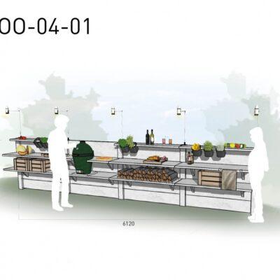 Lichtgrijs: €9.540 Antraciet: €10.680. De prijs is inclusief transport, installatie en BTW. Exclusief BBQ en accessoires.