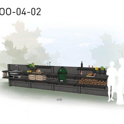 Lichtgrijs: €9.875 Antraciet: €10.955. De prijs is inclusief transport, installatie en BTW. Exclusief BBQ en accessoires.