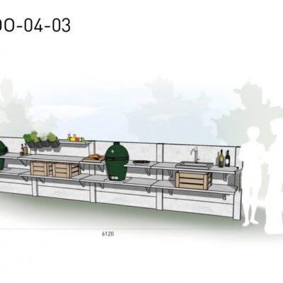 Lichtgrijs: €9.490 Antraciet: €10.510. De prijs is inclusief transport, installatie en BTW. Exclusief BBQ en accessoires.