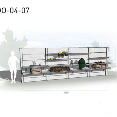 Lichtgrijs: €11.375 Antraciet: €12.680. De prijs is inclusief transport, installatie en BTW. Exclusief BBQ en accessoires.