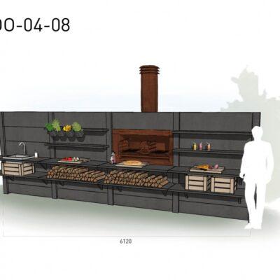 Lichtgrijs: €13.635 Antraciet: €14.910. De prijs is inclusief transport, installatie en BTW. Exclusief BBQ en accessoires.