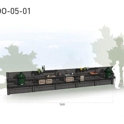Lichtgrijs: €11.970 Antraciet: €13.290. De prijs is inclusief transport, installatie en BTW. Exclusief BBQ en accessoires.