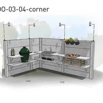 Lichtgrijs: €8.995 Antraciet: €9.940. De prijs is inclusief transport, installatie en BTW. Exclusief BBQ en accessoires.