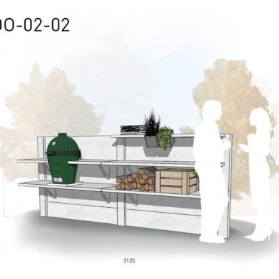 Lichtgrijs: €4.575 Antraciet: €5.120. De prijs is inclusief transport, installatie en BTW. Exclusief BBQ en accessoires.