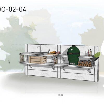 Lichtgrijs: €4.915 Antraciet: €5.390. De prijs is inclusief transport, installatie en BTW. Exclusief BBQ en accessoires.