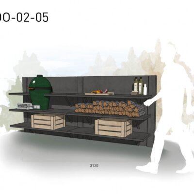 Lichtgrijs: €5.455 Antraciet: €6.130. De prijs is inclusief transport, installatie en BTW. Exclusief BBQ en accessoires.