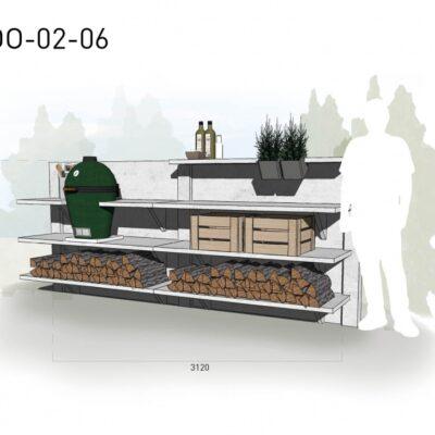 Lichtgrijs: €5.900 Antraciet: €6.645. De prijs is inclusief transport, installatie en BTW. Exclusief BBQ en accessoires.