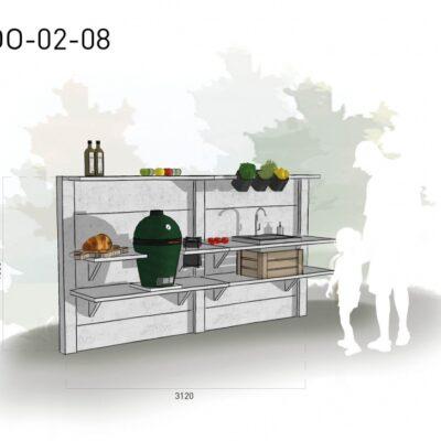 Lichtgrijs: €5.960 Antraciet: €6.595. De prijs is inclusief transport, installatie en BTW. Exclusief BBQ en accessoires.