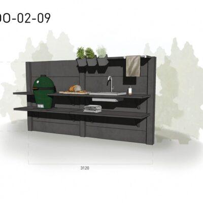 Lichtgrijs: €5.515 Antraciet: €6.080. De prijs is inclusief transport, installatie en BTW. Exclusief BBQ en accessoires.