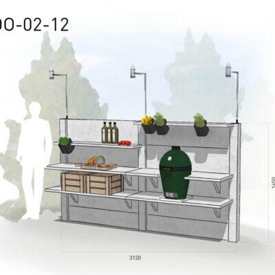 Lichtgrijs: €5.175 Antraciet: €5.810. De prijs is inclusief transport, installatie en BTW. Exclusief BBQ en accessoires.