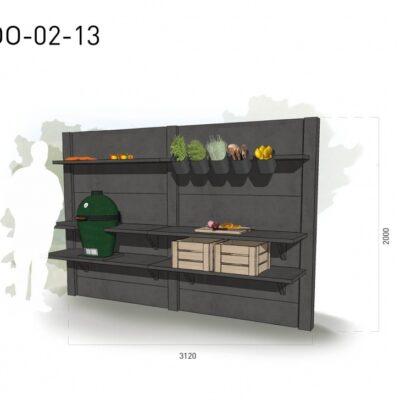 Lichtgrijs: €5.335 Antraciet: €5.980. De prijs is inclusief transport, installatie en BTW. Exclusief BBQ en accessoires.