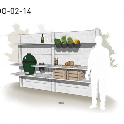 Lichtgrijs: €5.325 Antraciet: €5.980. De prijs is inclusief transport, installatie en BTW. Exclusief BBQ en accessoires.