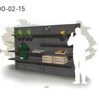 Lichtgrijs: €5.775 Antraciet: €6.495. De prijs is inclusief transport, installatie en BTW. Exclusief BBQ en accessoires.