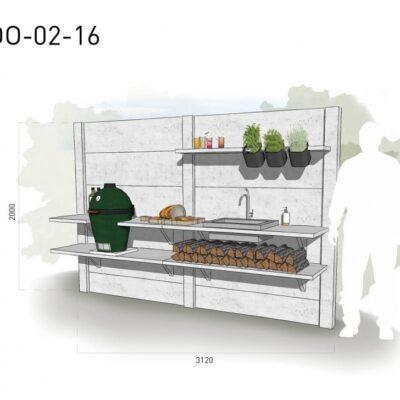 Lichtgrijs: €5.665 Antraciet: €6.250. De prijs is inclusief transport, installatie en BTW. Exclusief BBQ en accessoires.