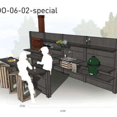 Lichtgrijs: €16.475 Antraciet: €18.030. De prijs is inclusief transport, installatie en BTW. Exclusief BBQ en accessoires.