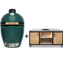 Big-Green-Egg-Large-met-tafelkast-oak-steel-storage-keukenmodel-
